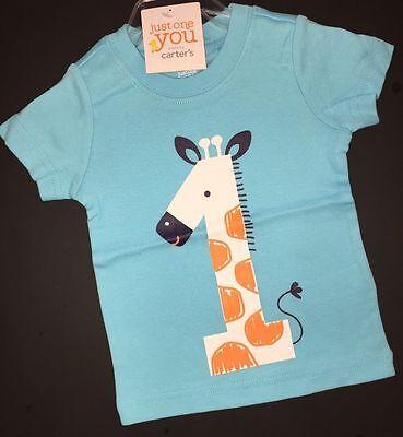 1st Birthday GIRAFFE Baby Boys Shirt 12 18 Months 1 Year Gift Carters Party