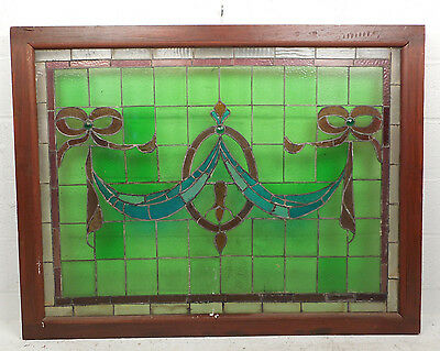Large Vintage Stained Glass Window Panel (3020)NJ 2