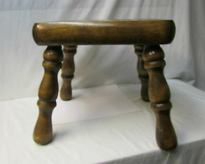 Antique Rustic Solid Wood Stool - Sturdy Stool 6