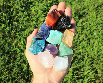 Beginners Crystal Kit, 10 pcs In Velvet Pouch - Most Popular Rough Crystals 5
