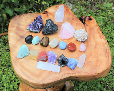 20 pcs Beginners Crystal Kit - Chakra Protection Healing Sets - Crystal Gift 5