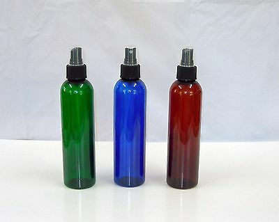 4 - 8oz Pet Plastic Cosmo Bottles w/Sprayer  U Pick Color & Qty. & Size 4