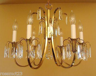 Vintage Lighting distinctive Mid Century crystal chandelier 3
