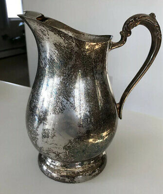 F.B.Rogers Silver Co Vintage '40s Silverplate Water Pitcher w/Ice Guard 2