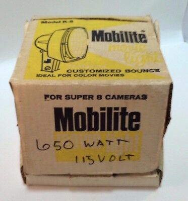 Mobilite Portable Movie Light For Super 8  Vintage Yashica Original Box Works