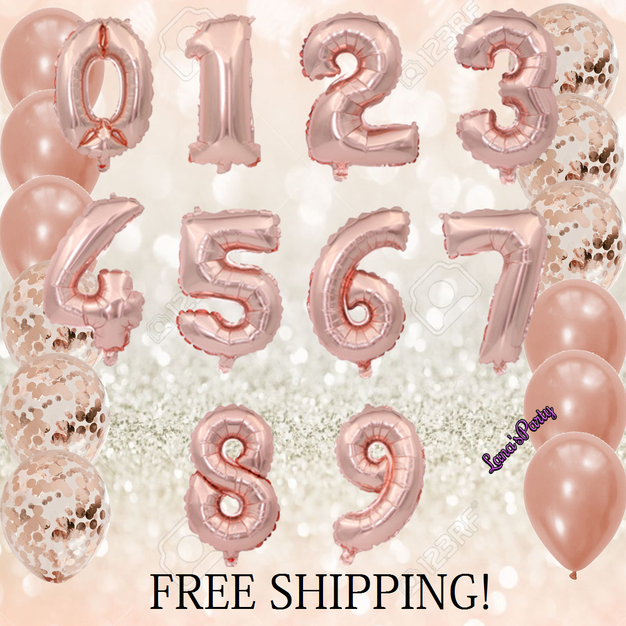 """32''/40"""" Number Shape Helium Foil Ballons Wedding Party Balloons Birthday Decors 10"""