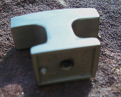 Satin nickel antique vintage drawer hardware MidCentury knob Danish Modern 5