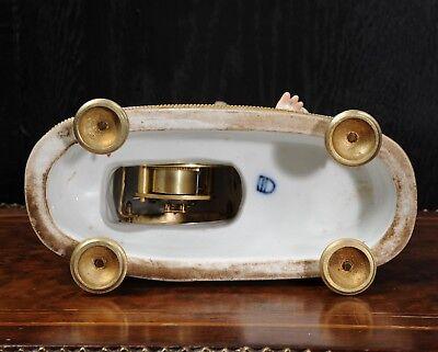 Rare Vienna Porcelain Boudoir Clock C1880 9