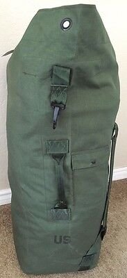 USA Army Military Canvas Duffel  Camping Survival Bat Bag USA Made