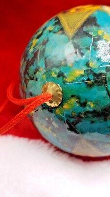 5 Vintage Paper Mache Christmas Ornaments Angel Round balls 5 Set 7
