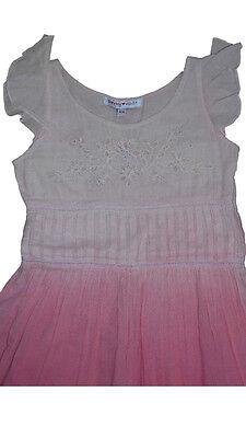 Vestito abito cotone gonna ampia ricamato DERHY KIDS bimba bambina 4/6 anni 2