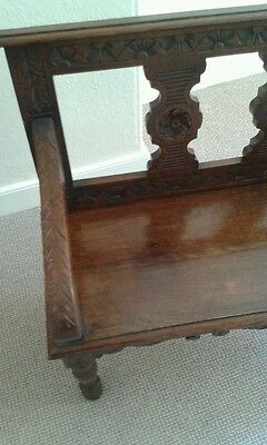 Antique victorian hall bench seat chair monks bench settle reception hall bench 12
