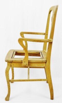Antique Quartersawn Oak Claw Foot Arm Chair 6