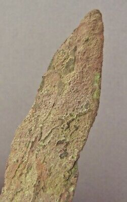 OLD COPPER CULTURE Large NOTCHED SPEAR POINT Vilas Wisconsin Gogebic Michigan 35 9
