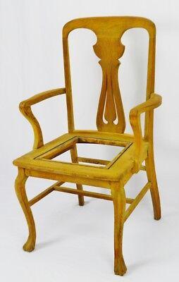Antique Quartersawn Oak Claw Foot Arm Chair 2
