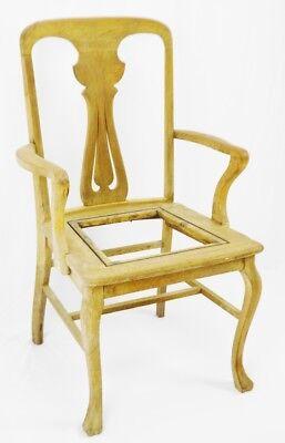 Antique Quartersawn Oak Claw Foot Arm Chair 3