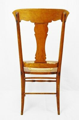 Early Oak Cane Seat Splat Back Accent Chair 8