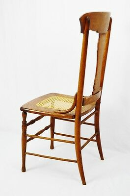 Early Oak Cane Seat Splat Back Accent Chair 7
