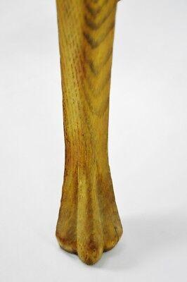 Antique Quartersawn Oak Claw Foot Arm Chair 9