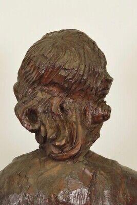 Escultura de Madera Siglo XVIII Siglo Hombre de Traje y Sombrero 9