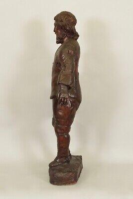 Escultura de Madera Siglo XVIII Siglo Hombre de Traje y Sombrero 5