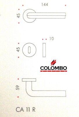 MANIGLIA PER PORTA COLOMBO DESIGN SATURN CA11R NEROMAT design CASTIGLIA