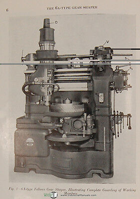 Fellows 6A-Type Gear Shapers Machine Operations and Parts Manual Year (1962) 3