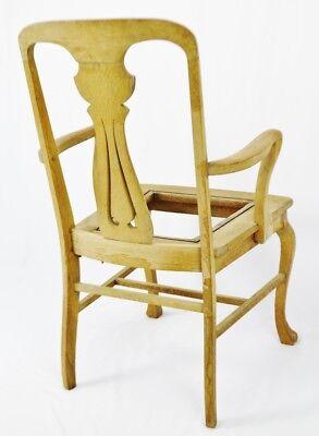 Antique Quartersawn Oak Claw Foot Arm Chair 7