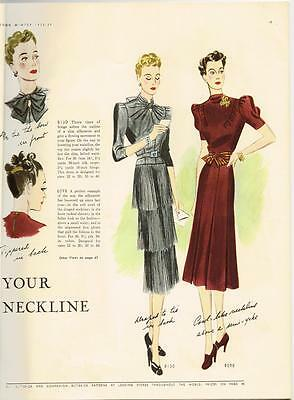 CD Picture Pack Butterick Fall 1930s Quarterly Pattern Book Catalog E-Book on CD