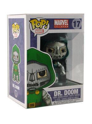 Funko Pop Dr. Doom Metallic Vinyl Figure #17 Marvel Universe Brand New In Box 2