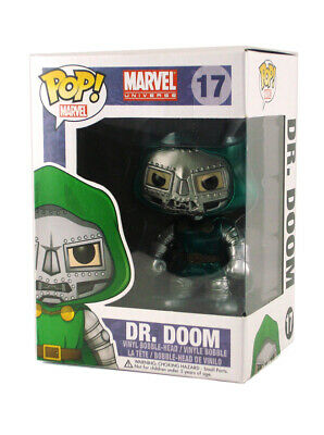 Funko Pop Dr. Doom Metallic Vinyl Figure #17 Marvel Universe Brand New In Box 3