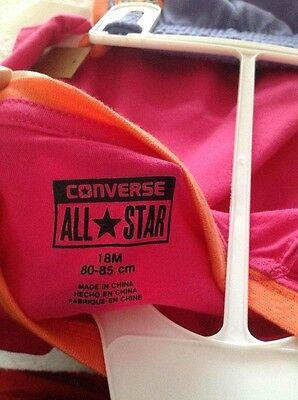 Girls CONVERSE 2 Piece L/S T Shirt & Trouser Set BNWT 18 Months Cosmos Pink 3