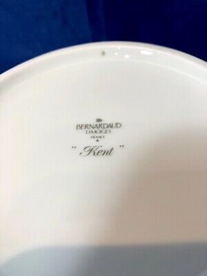 Bernardaud Limoges Porcelain Kent Bleu Saladier / Salad Bowl / Insalatiera NEW 6