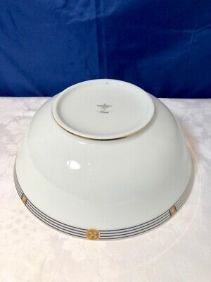 Bernardaud Limoges Porcelain Kent Bleu Saladier / Salad Bowl / Insalatiera NEW 5