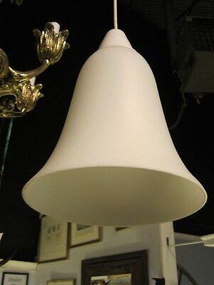 Mid Century Modern Pendent Chandelier Italian Hand Blown Satin Glass Lantern 5