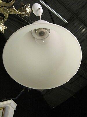 Mid Century Modern Pendent Chandelier Italian Hand Blown Satin Glass Lantern 9