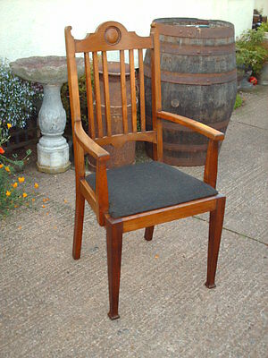 Antique Mahogany Open Armchair 7