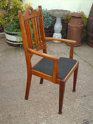 Antique Mahogany Open Armchair 8