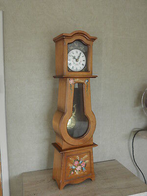 Clock Chime Longcase  Musical horloge retro vintage pendule polychromatic wood 5