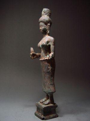 ANTIQUE BRONZE FEMALE DEITY, PRAKHON CHAI, BURIRAM. KHMER INFLUENCE. 18/19th C. 4