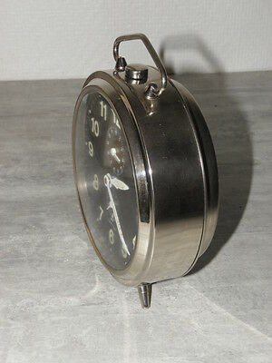 older clock alarm  jaz tempesto desk Art Deco design vintage 70 Mechanics uhr 5