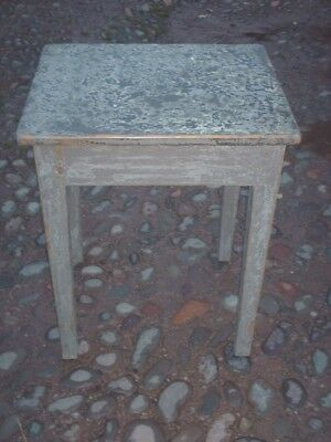 Antique Rustic Pine Painted Side Table 10