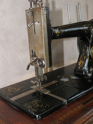 ANTIQUE SEWING MACHINE Winselmann old Hand Crank TOOLS vintage century iron 3