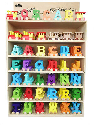 Color Wooden Name Train Letters Personalised Name Train as Children Baby Gift 3
