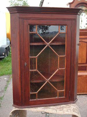 Vintage Astragal- Glazed  Corner  Display  Cabinet 6