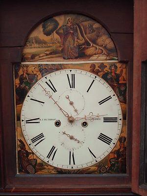Antique Scottish Grandfather / Longcase Airdrie Clock ( Fair Maid Of Perth ) 5