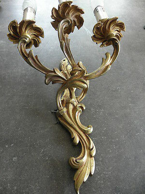 French exquisite ornate patina bronze wall  sconces divine antique old 5 • CAD $226.80