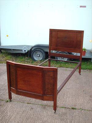 Antique Mahogany And Iron Single Bed 3' 2