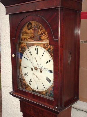 Antique Scottish Grandfather / Longcase Airdrie Clock ( Fair Maid Of Perth ) 3