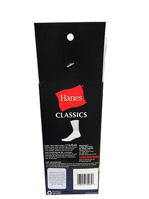 Hanes Men's BIG & TALL 6 paris cushion Crew white socks fit shoe size 12-14 5